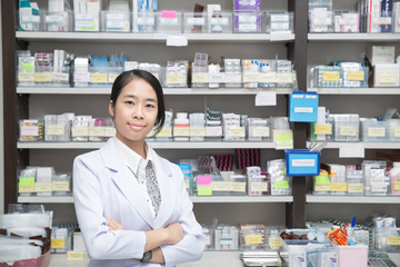 Asian woman a pharmacist