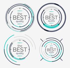 Fototapeta Thin line neat design logo set, premium quality obraz