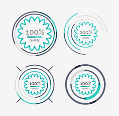 Thin line neat design logo set, premium quality