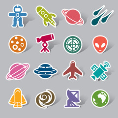 Space Element Color Icon Label