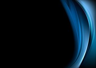 Blue waves on black background