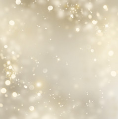 Christmas gold background. Golden holiday glowing background