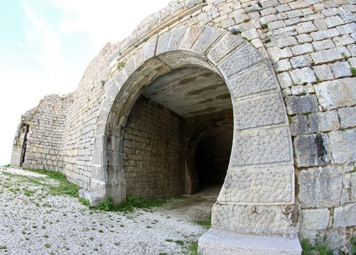 ancient Fort of Campo Molon near Vicenza city used by the Italia