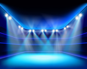 Lights of stadium. Vector illustration.