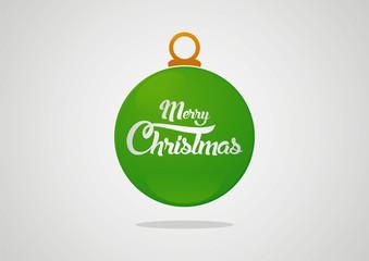 Christmas green ball vector