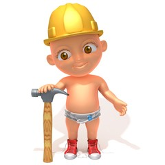 Baby Jake construction worker