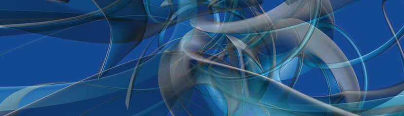blue abstract panorama