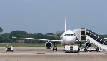 Passenger airplane at airport