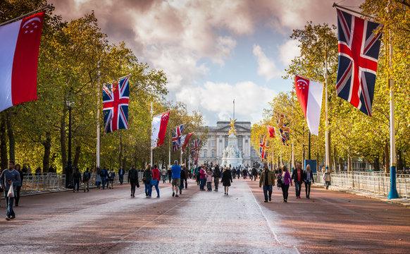 The Mall & Buckingham Palace, London