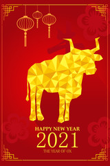 Chinese New Year design for Year of ox
