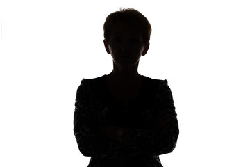 Silhouette of adult woman