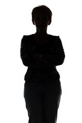 Photo of silhouette adult woman