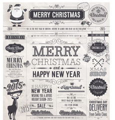 Wall Mural - Christmas set - labels, emblems and other decorative elements.