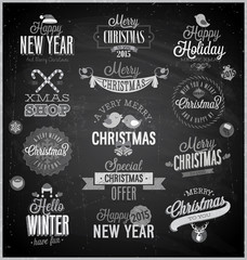 Wall Mural - Christmas set - labels, emblems and other decorative elements