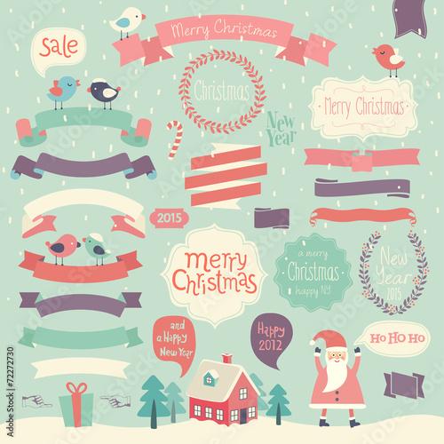 Wall mural Christmas set