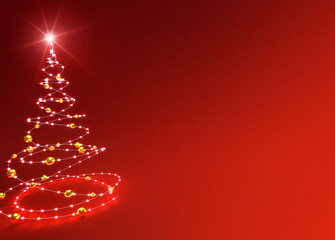 abstract red christmas tree background