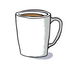 Cup sketch, vector illustration
