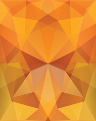 Abstract background autumn triangles