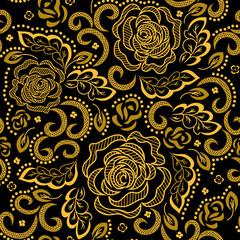 Golden floral pattern.