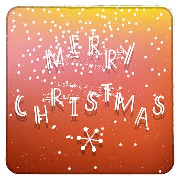 Merry Christmas orange and yellow invitation card
