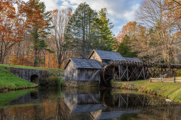 Mabry Mill, a restored gristmill on the Blue Ridge Parkway in Vi