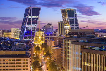 Madrid, Spain Financial District at Puerta de Europa