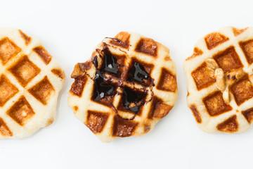 Waffle isolated on white background
