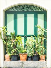 vintage wood door