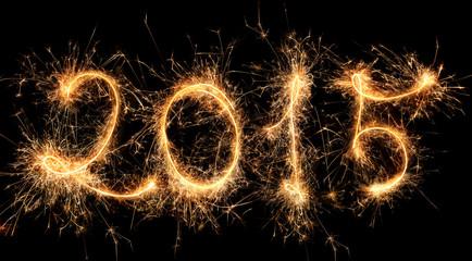 2015 - Happy New year - sparkle firework
