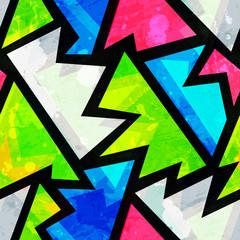 bright grunge geometric seamless pattern