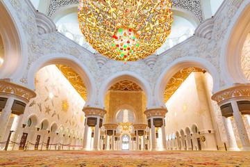 Sheikh Zayed Grand Mosque interior in Abu Dhabi, UAE Wall mural