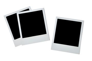 Blank photoframe over white