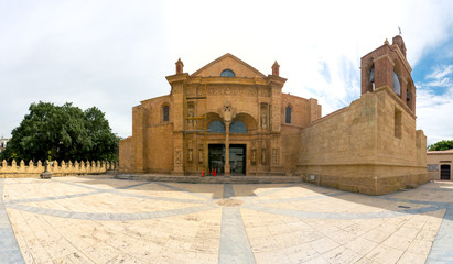 Panorama of Cathedral of Santa Maria la Menor, Santo Domingo,
