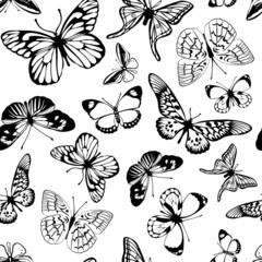 Black  butterflies.