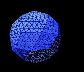 三角形で構成された球体