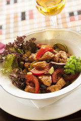 Meat and Vegetable Restaurant Meal
