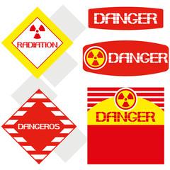 Word- danger,radiation.