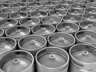 Beer kegs 3d background