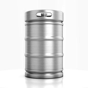 beer keg isolated on white