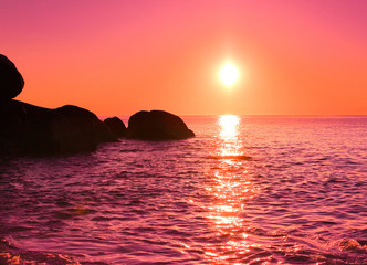 Wall Murals Candy pink Sunrise Night Morning