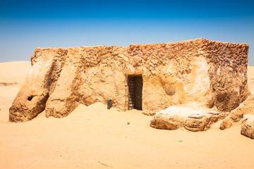 The houses from planet Tatouine - Star Wars film set,Nefta Tunis