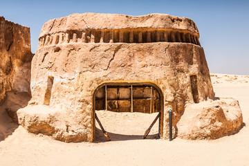 Buildings in Ong Jemel, Tunisia. Ong Jemel is a place near Tozeu