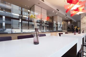 Interior of a modern cafe