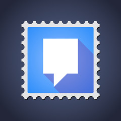 Mail stamp icon with a tooltip