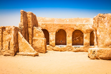 The houses from planet Tatouine - Star Wars film set,Nefta Tunis