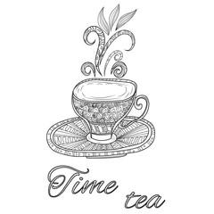 Tea party vintage background