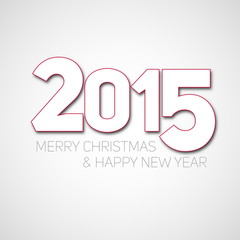 Simple Happy New Year 2015 vector card