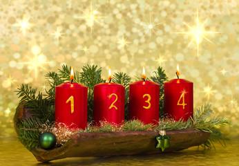 Weihnachts-Gesteck für 4. Advent