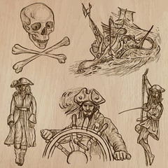 pirates - an hand drawn vector pack no.10
