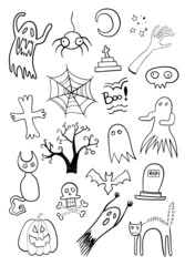 Scary Objects Doodle Set